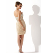 Sheath/Column Sweetheart Knee-Length Taffeta Cocktail Dress With Ruffle Beading Sequins (016008490)
