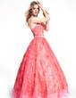 Ball-Gown Strapless Floor-Length Lace Prom Dress With Beading (018019055)