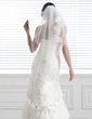 Two-tier Fingertip Bridal Veils With Beaded Edge (006005421)