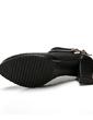 Suni deri Kalın Topuk Pompalar Ayak bileği Boots Ile Yapay elmas ayakkabı (088057372)