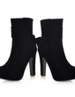 Leatherette Chunky Heel Platform Ankle Boots With Bowknot shoes (088036795)