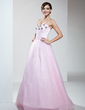 A-Line/Princess Sweetheart Floor-Length Organza Quinceanera Dress With Ruffle Beading (021017446)
