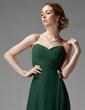 Yüksek Bel Kalp Kesimli Uzun Etekli Chiffon Nedime Elbisesi Ile Büzgü Boncuklama (007000924)