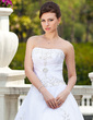 Ball-Gown Sweetheart Chapel Train Organza Wedding Dress With Embroidered Beading (002000299)