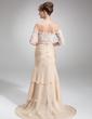Syrena Bez ramiączek Tren Dworski Chiffon Suknia dla Mamy Panny Młodej (008006299)