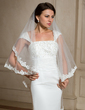 One-tier Waltz Bridal Veils With Lace Applique Edge (006024476)