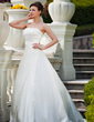 Ball-Gown Strapless Court Train Satin Organza Wedding Dress With Ruffle Beading Sequins (002011456)