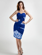 Sheath/Column Sweetheart Knee-Length Chiffon Mother of the Bride Dress With Beading Sequins (008015792)