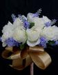 Besondere Mid Hand Gebunden Satin Brautjungfer Blumensträuße (123031370)
