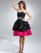 A-Line/Princess Sweetheart Knee-Length Taffeta Cocktail Dress With Ruffle Beading (016015315)