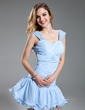 A-Line/Princess Sweetheart Short/Mini Chiffon Homecoming Dress With Ruffle Beading (022019594)