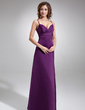 Empire Sweetheart Floor-Length Satin Bridesmaid Dress With Ruffle (007004279)