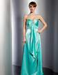 Empire Sweetheart Floor-Length Charmeuse Evening Dress With Ruffle Beading Split Front (017014770)