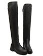 Suni deri Kalın Topuk Bot Diz Yüksek Boots Ile Fermuar ayakkabı (088057537)