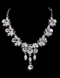 Elegant Alloy/Rhinestones Women's Jewelry Sets (011028389)