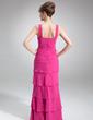 Çan/Prenses Kare Yaka Uzun Etekli Chiffon Gelin Annesi Elbisesi (008006004)