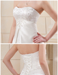 A-Line/Princess Sweetheart Chapel Train Satin Wedding Dress With Embroidered Beading (002011692)