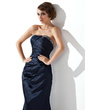 Trumpet/Mermaid Strapless Sweep Train Charmeuse Evening Dress With Ruffle Beading (017002275)