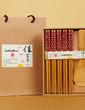 Floral Design Bamboo Spoon and Chopsticks Set (051039213)