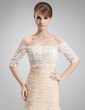 Half-Sleeve Lace Special Occasion Wrap (013016941)