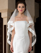 One-tier Waltz Bridal Veils With Ribbon Edge (006036623)