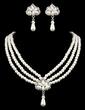 Elegancki Stop/Perła Z Rhinestone Ladies ' Zestawy biżuterii (011005555)