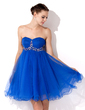 Empire Sweetheart Knee-Length Tulle Homecoming Dress With Ruffle Beading (022021067)