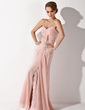 A-Line/Princess Sweetheart Floor-Length Chiffon Mother of the Bride Dress With Ruffle Lace Beading Split Front (008006007)