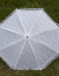 Sweet Terylene/Lace Wedding Umbrellas With Embroidery (124036968)