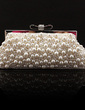 Charming Silk/Pearl With Rhinestone Clutches (012028130)