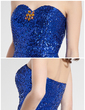 Sheath/Column Sweetheart Asymmetrical Sequined Prom Dress With Beading (018018832)