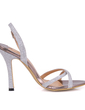 Leatherette Stiletto Heel Slingbacks Sandals (087015261)