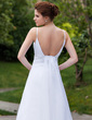 Empire V-neck Detachable Organza Wedding Dress With Ruffle Beading Sequins (002011667)