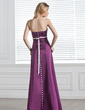 Empire Strapless Floor-Length Satin Bridesmaid Dress With Sash Bow(s) (007000887)