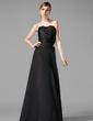 Çan/Prenses Taraklı Yaka Uzun Etekli Satin Nedime Elbisesi Ile Büzgü Kristal Broş (007013962)