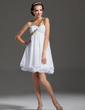 Empire One-Shoulder Short/Mini Chiffon Homecoming Dress With Ruffle Beading Appliques Lace Sequins (022020622)