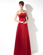 Sheath/Column Sweetheart Floor-Length Satin Bridesmaid Dress With Beading (007001864)