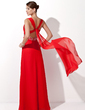 A-Line/Princess Sweetheart Floor-Length Chiffon Evening Dress With Ruffle Beading Sequins (017004434)