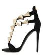 Suede Stiletto Heel Sandals shoes (087026670)