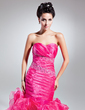Empire Sweetheart Floor-Length Organza Prom Dress With Beading Cascading Ruffles (018015052)