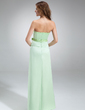 A-Line/Princess Sweetheart Floor-Length Satin Bridesmaid Dress With Beading Bow(s) (007001759)