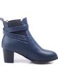 Suni deri Kalın Topuk Ayak bileği Boots Ile Toka ayakkabı (088057293)