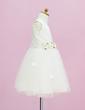 Çan/Prenses Uzun Etekli Çiçek Kız Elbise - Saten/Tül Kolsuz Yuvarlak Yaka Ile Çiçek(ler) (010005331)