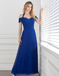 A-Line/Princess Halter Ankle-Length Chiffon Evening Dress With Ruffle (017005287)
