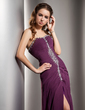 A-Line/Princess Sweetheart Sweep Train Chiffon Prom Dress With Ruffle Beading Split Front (018020943)