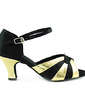 Women's Satin Patent Leather Heels Sandals Latin Dance Shoes (053013533)