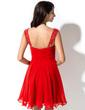 A-Line/Princess Sweetheart Short/Mini Chiffon Homecoming Dress With Ruffle Beading Sequins (022027049)