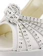 Satyna Szpilki Z Odkrytym Palcem Buty na Platformie Bez Pięty Sandały Buty Ślubne Z Klamra Kryształ Górski (047011846)