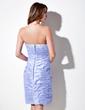Sheath/Column Sweetheart Knee-Length Taffeta Cocktail Dress With Ruffle Beading (016016049)