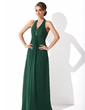 A-Line/Princess Halter Floor-Length Chiffon Mother of the Bride Dress With Beading (008021130)